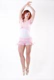 Modern style dancer. Posing on white background royalty free stock photo