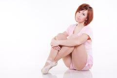 Modern style dancer. Posing on white background stock photo