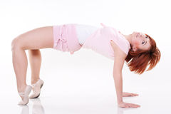 Modern style dancer. Posing on white background royalty free stock photography
