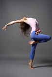 Modern style dancer. Stylish and young modern style dancer is posing royalty free stock image