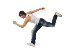 Modern style dancer. Stylish and young modern style dancer is posing Stock Images