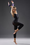 Modern style dancer. Stylish and young modern style dancer is posing Royalty Free Stock Photography