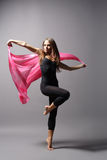Modern style dancer. Stylish and young modern style dancer is posing stock photo