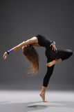 Modern style dancer. Stylish and young modern style dancer is posing royalty free stock images