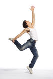 Modern style dancer. Stylish and young modern style dancer is posing Stock Photos