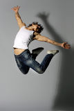 Modern style dancer. Young modern style dancer posing stock images