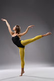 Modern style dancer. Young modern style dancer posing stock photo