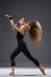 Modern style dancer. Young modern style dancer posing stock image