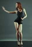 Modern style dancer. Stock Photos