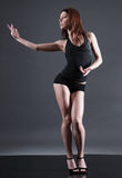 Modern style dancer. Royalty Free Stock Photos
