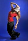 Modern style dancer girl Stock Images