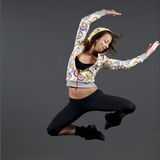 Modern style dancer jumping Royalty Free Stock Image
