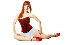 Modern style dancer posing Stock Images