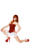 Modern style dancer posing Royalty Free Stock Images