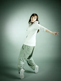 Modern style dancer posing Royalty Free Stock Image