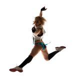 Modern style dancer posing on studio Royalty Free Stock Photos