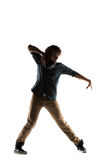 Modern style dancer posing on studio background Royalty Free Stock Photography