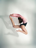 Modern style dancer  posing on white background Royalty Free Stock Images
