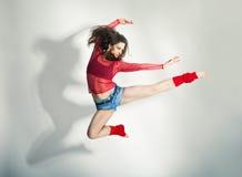 Modern style dancer  posing on white background Stock Image