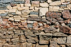 Stone wall surface. Modern style design decorative uneven cracked real stone wall surface Royalty Free Stock Image
