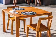 Modern style dinner table Royalty Free Stock Photography