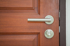 Modern style door handle Stock Photos