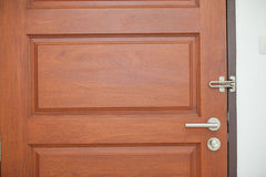 Modern style door handle Stock Photography
