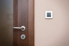 Modern style door handle Royalty Free Stock Photo