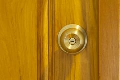 Modern style wooden door royalty free stock photography