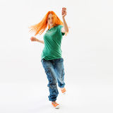 Modern style female dancer Royalty Free Stock Images