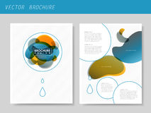Modern style flyer template for business Royalty Free Stock Photo
