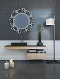 Modern Style Grey Bathroom Stock Photography