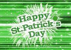 Modern Style Happy St Patricks Day Design Royalty Free Stock Photos