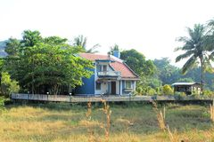 A Modern Style House in Chandor Goa India Royalty Free Stock Photography