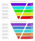 Modern style infographic funnel vector illustration can be used for layout diagram business step options banner web Stock Photos