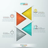 Modern style infographics options banner for 4 steps with triangles Royalty Free Stock Photos
