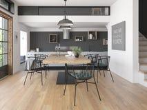 Modern style interior design 3D rendering Stock Photo