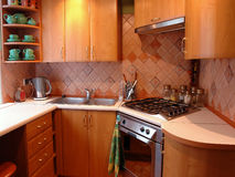Modern style kitchen Stock Photography