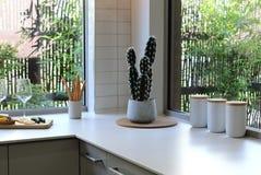 Modern style kitchen interior Stock Images