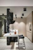 Modern style kitchen zone Stock Photos