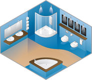 Modern Style Large Bathroom royalty free illustration