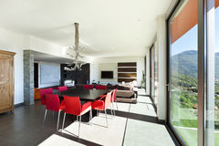 Modern style, living room Stock Photos