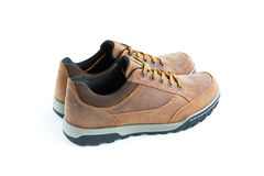 Modern style male  jogging shoes. Isolated male modern style jogging shoes Royalty Free Stock Photo