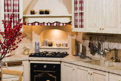 Modern style of a new kitchen Royalty Free Stock Photos
