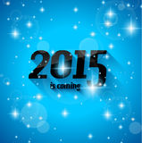 Modern Style 2015 New Year is coming background. With blend shadow. Ready to copy and paste on every surface Stock Photo