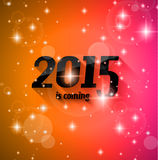 Modern Style 2015 New Year is coming background. With blend shadow. Ready to copy and paste on every surface Royalty Free Stock Images