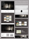 Modern style one page website design template Stock Image