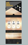 Modern style one page website design template Royalty Free Stock Images
