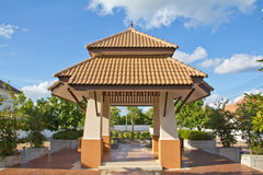 Modern style pavilion. In the park Royalty Free Stock Photos