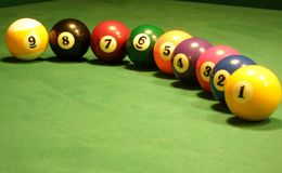 Modern style pool balls Royalty Free Stock Photo